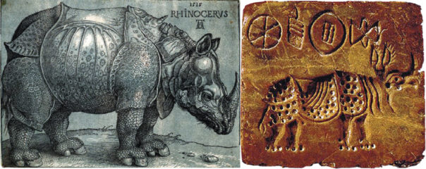 ऐतिहासिक गैंडा, जो दक्षिणएशियाबाट युरोप पुग्यो